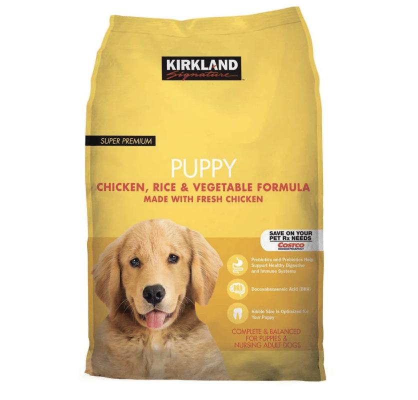 Kirkland dog food.
