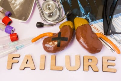 Kidney or adrenal failure concept photo