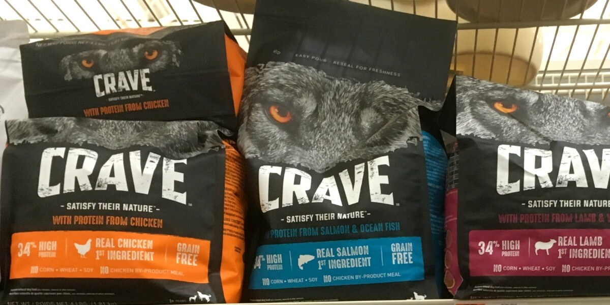 Crave Dog Food in Cart